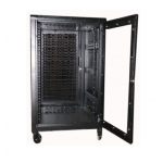 Cabinet 18U W600 D600 W/FG & RP Door S/Bolted - RAL 7021