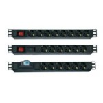 PDU 6xBS1363 UK 1.5U 16A ON/OFF 4000W 250V 2.5m 13A BS1363