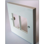Face Plate 6C Single Gang 2 Module