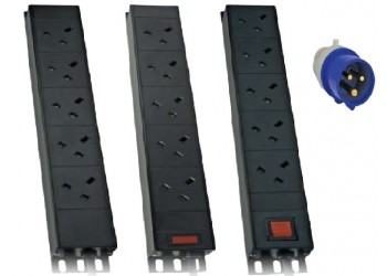 PDU 10Way Left Angled Vertical Unswitched - 32A