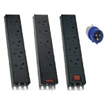 PDU 10Way Left Angled Vertical Unswitched Fully 32A Rated