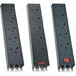 PDU 6Way Left Angled Vertical Unswitched