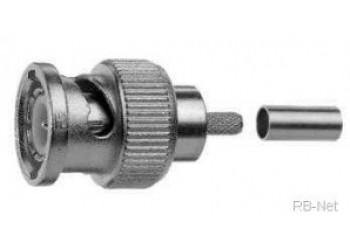 BNC Plug 50 Ohms For RG58 Cable