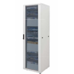 Cabinet 42U 600X800 Perf Front Glass, Rear Perf Door -9005