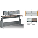 ELICON VC-E _ Electronically Height Adjustable _ Linear Console _ W1200xD800mm