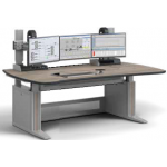 ERGOCON WorkStation _ Control Room Console _ Installation Module _ W1800 D1100 _ Curved