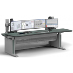 ERGOCON WorkStation _ Control Room Console _ KVM-ready Technology Cabinet _ W2200 D1100 _ Curved