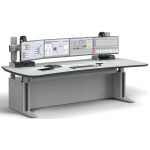 ERGOCON WorkStation _ Control Room Console _ Workstation Technology Cabinet _ W2200 D1100 _ Curved