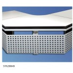 Perforated rear panel for SynergyConsole® Corner Piece