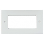 Face Plate Euro Quad 86x147 - White