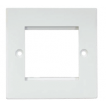 Face Plate Dual 86x86 - White