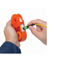 Sticklers Cassette CleanClicker is an economical alternative to trigger-operated fiber endface cleaning tools
