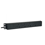 PDU 6 Way Left Angled Vertical Unswitched