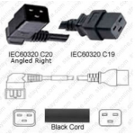 Powercord IEC 60320 C20 Right Plug To C19 20a/250 12/3- 6Ft