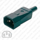 Plug AC IEC 60320 C14 10 A (M) Straight Entry
