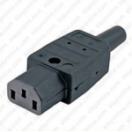 Plug AC IEC 60320 C13 Female 10 Amp Straight Entry