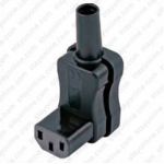 AC Connector IEC 60320 C13 Female 10 Amp Down Angle VDE