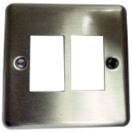 Face Plate 6C 1G2AP Brushed Stainless
