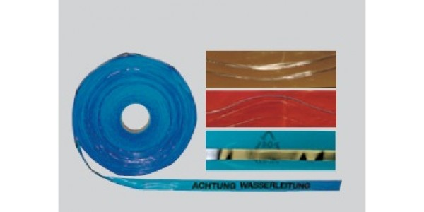 Warning plastic tape with stainless steel or copper wires 0,5mm x 2