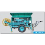 Hydraulic winches for underground cable installations and overhead lines stringing