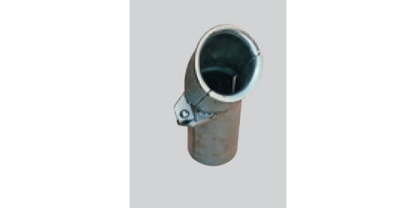 Galvanised cable protection tube, curved