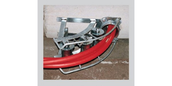 Galvanised cable and rope entrance device