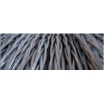 Galvanized steel antitwisting ropes with square section, 8/12 x 19