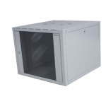 Cabinet Single Wallmount 9U 600x560mm W/Fixed Side-7035