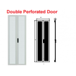 Door 42U 800mm Flat 67% Perforated Double -9005