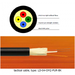 LD Optical Cable for Mobile and Tactical Use