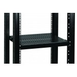 Shelf Fixed 2U D550 100kgs - RAL9005