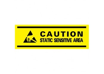 "Caution Static Sensitive Area Aisle Marking Tape, 3"" X 54'  Ideal For ESD-Safe Area Designation"