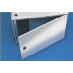 Door Rear Steel 15U W600 - Smaract RAL7035