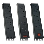 PDU 10Way Left Angled Vertical Unswitched