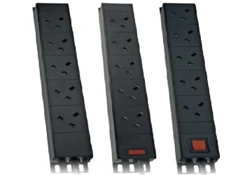 PDU 10Way Left Angled Vertical Unswitched - 16A
