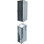 Cabinet 26U 600X600 Front Glass, Rear Perf Metal Door -900