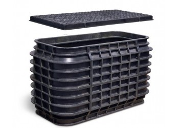 Polyvault HDPE 2454-26 With Ductile Cover And Frame