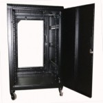 Cabinet 18U W600 D800 With Back Door S/bolted - RAL7021