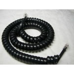 Handset Coiled Cord 10ft Black