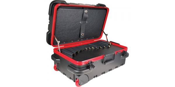 """Chicago Case Company RMSLCART Mil-Style Slim Line Rugged Tool Case w/ Pallets, 20-3/4 x 12-1/4 x 11""""  Built to Withstand Harsh Conditions"""