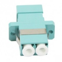 FO Adapter LC-LC Dpx MM OM3 Ceramic/Flange